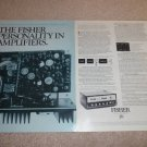 Fisher TX-2000 Amplifier Ad, 2 pgs, 1972,Specs,Article