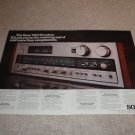 Sony 7800 Receiver Ad,2 pgs,specs,color,Features, Nice!