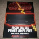 Adcom GFA-555 AD from 1986, Excellent! Rare!