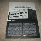 Sony TA-1120 Integrated Amp Ad from 1968,Specs,RARE!