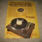 Technics SL-1350 Turntable Ad from 1973,color