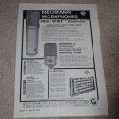 Neuman Microphones Ad,1963,U-67,M-49b,km-54a56, Specs