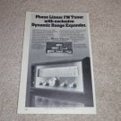 "Phase Linear FM Tuner Ad,5000, Article, 6""x9"""