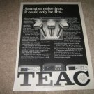 Teac Cassette Deck Ad from 1981,V-3rx,C-rx,V-5rx