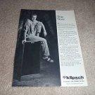 Klipsch Forte II Speaker Ad from 1989, perfect!