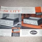 hh Scott Ad, 1956, Very Rare 2 pg,330b Tuner,210e Amp
