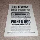Fisher 202-r Tuner Ad from 1960,Specs