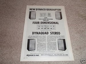 Dynaco SCA-80 QUAD Preamp Ad from 1971,A25 speakers