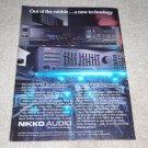 Nikko AVR-65 Receiver Ad,NA-1050 A/V Control Ctr Ad,'87