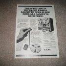 Teac X3 Vintage Ad 1980 X-3