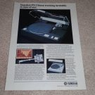 Yamaha PX-2 Linear Turntable Ad,Article,specs,Rare one!