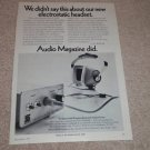 Stanton Electrostatic Headphone Ad, 1971,Mark III Iso
