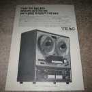 Teac A-4010S Ad from 1968, beautiful!