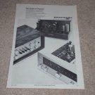 Marantz Ad, 1965, RARE! Model 7,Pre, 8B Amp, 10b Tuner