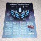 Bose 901 III Speaker Ad, Article, Features, RARE! 1977