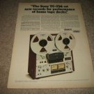 Sony TC-756 Open-Reel Ad from 1975,specs,perfect!