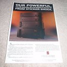 Parasound HCA-500,800II,1200,2200 Amp Ad from 1992