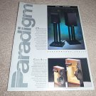 Paradigm Titan,Phantom brochure from 1992,2 side,specs