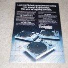 Technics SL-1800,SL-1600,SL-1700 Turntable Ad, 1977