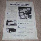 Counterpoint SA-4, sa-20 Amplifier Ad, Tubes! 1987