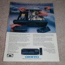 Onkyo DX-5700 CD Player Ad, 1990, Inside view!