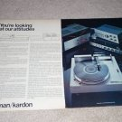 Harman Kardon Ad,ST-7 Turntable,Citation 16,430 Pre