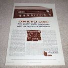 Onkyo Receiver Ad from 1974, TX-666 specs, article