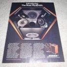 Bose 601 Series I, RARE Speaker Ad 1977, article