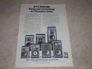 BIC Venturi Speaker Ad, 1977, Formula 1,2,3,4,6, Info