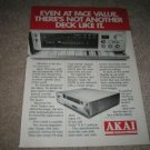 Akai Cassette Deck Ad from 1985,GX-F91, Ultimate!