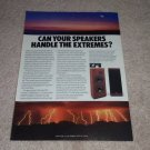 EPI T/E 280 II Speaker AD from 1986, color, Nice!