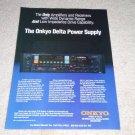 Onkyo TX-85 Integra Receiver Ad, 1984, Delta Power!