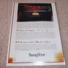 Sunfire Cinema Grand Ad from 1999, 1 page, article