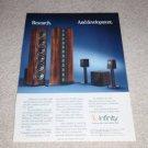 Infinty Reference Std V System,Modulus Ad,1989,1 pg