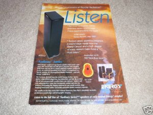 Energy Audissey APS 5+2 Speaker System Ad from 1998