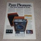 Scott Pro 100 Speaker Ad,1977,color,specs,Beautiful!