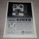 Roberts 420XD Open Reel Ad,1969,features,RARE!
