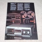 Revox B710 Cassette,B77 Open Reel Ad, 1981, Beautiful!