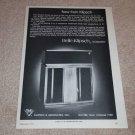 Belle Klipsch Speaker Ad, 1971, Article, Very Rare!