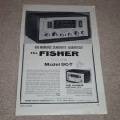 Fisher Tuner Ad, 90-T, Article, specs, Rare 1958 Ad!