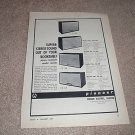 Pioneer Speaker Ad from 1961,CS-12a,8a,8b,6a,specs RARE