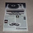 Kenwood KD-3100 Turntable Ad,1978,Article,cutaway,specs