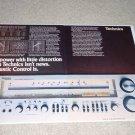 Technics Super Receiver Ad,SA-1000,AMAZING! 2 pgs,specs
