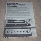 Teac AT-100 Tuner,AS-100 Amplifier Ad,1972,specs,articl