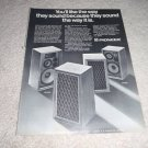 Pioneer CS-a700,a-500 Speaker AD from 1971