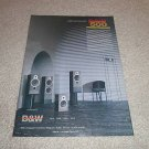 B&W DM570,550,580,560 Speakers Ad from 1989