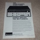 Sansui QR6500 QUAD Receiver Ad, 1971, Article, Specs