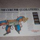 Fisher QUAD Receiver Ad,1974,634,434,334,234,Specs,2 pg