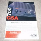 Adcom GSA-700 Preamp Ad from 1996