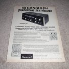 Sansui QS-1 QUAD Preamp Ad from 1971, very RARE!